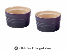 Le Creuset Stoneware 7oz Stackable Ramekins (set of 2) Cassis