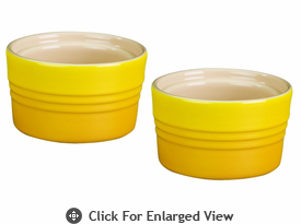 Le Creuset Stoneware 7oz Stackable Ramekins (set of 2) Dijon