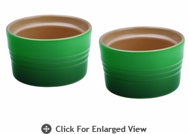 Le Creuset Stoneware 7oz Stackable Ramekins (set of 2) Fennel