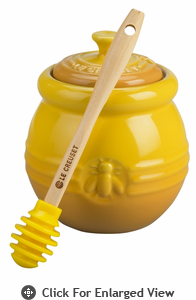 Le Creuset Stoneware Honey Pot w/ Silicone Honey Dipper