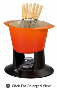 Le Creuset Traditional Fondue Set - Flame