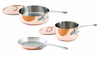 Mauviel 5 Piece M'heritage Copper Cookware Set Cast Stainless Steel Handles