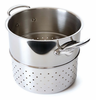 Mauviel M'Cook Stainless Pasta Insert Cast Stainless Steel Handles