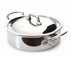 Mauviel M'cook Stainless Rondeau w/ Lid 24 cm / 3.3 Qt. Cast Stainless Steel Handle