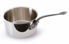 Mauviel M'cook Stainless Sauce Pan 24 cm / 6.4 Qt. Cast Iron Handle