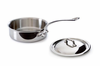 Mauviel M'cook Stainless Saute Pan w/ Lid 20 cm / 1.9 Qt. Cast Stainless Steel Handle