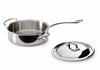 Mauviel M'cook Stainless Saute Pan w/ Lid 28 cm / 5.8 Qt. Cast Stainless Steel Handle