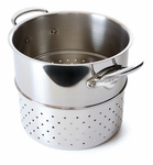 Mauviel M'Cook  Stainless Steamer Inserts  Cast Stainless Steel Handles