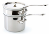 Mauviel M'Cook Stainless Steel 14cm Bain Marie with Lid