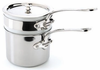 Mauviel M'Cook Stainless Steel Bain Maries with Lid