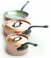 Mauviel M'heritage 5 Piece Cookware Set Cast Iron Handles
