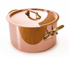 Mauviel M'heritage Copper  24cm (9.5in) Stew pot w/ Lid Bronze Handles