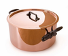 Mauviel M'heritage Copper  24cm (9.5in) Stew pot w/ Lid Cast Iron Handles