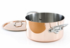 Mauviel M'heritage Copper  24cm (9.5in) Stew pot w/ Lid Stainless Steel Handles