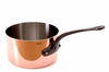 Mauviel M'heritage Copper Sauce Pan 28 cm / 9.5 qt Cast Iron Handle