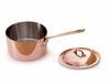 Mauviel M'heritage Copper Sauce Pan w/ Lid 14 cm / 1.3 Qt. Bronze Handle