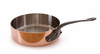 Mauviel M'heritage Copper Saute; Pan 4.9 Qt. (28 cm) Cast Iron Handle
