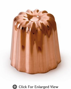 Mauviel M'passion Copper Tinned Canele Mold (Set of 4)