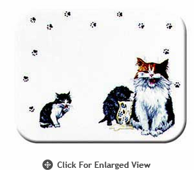 "McGowan Mfg TUFTOP Tempered Glass  Cutting Board Cats Whiskers Small 9"" X 12"""