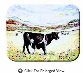 "McGowan Mfg TUFTOP Tempered Glass  Cutting Board Cow and Calf Small 9"" X 12"""