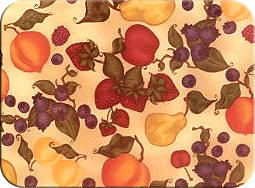 "McGowan Mfg TUFTOP Tempered Glass Cutting Board Fruit Jumble Small 9"" X 12"""