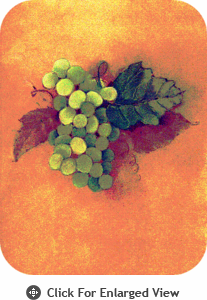 """McGowan Mfg TUFTOP Tempered Glass  Cutting Board Grapes Cluster Small 9"""" X 12"""""""