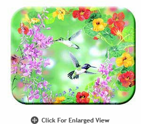 "McGowan Mfg TUFTOP Tempered Glass Cutting Board Hummingbirds Small 9"" X 12"""