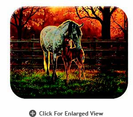 "McGowan Mfg TUFTOP Tempered Glass Cutting Board Mare and Foal Small 9"" X 12"""