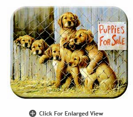 "McGowan Mfg TUFTOP Tempered Glass Cutting Board Puppies for Sale  Small 9"" X 12"""