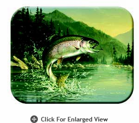 "McGowan Mfg TUFTOP Tempered Glass Cutting Board  Rainbow Trout Small 9"" X 12"""