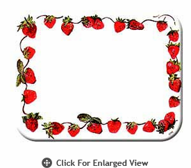 "McGowan Mfg TUFTOP Tempered Glass Cutting Board Strawberries Small 9"" X 12"""