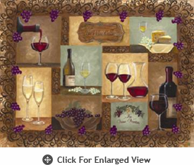 "McGowan Mfg TUFTOP Tempered Glass Cutting Board Wine Cellar Medium 12"" X 16"""