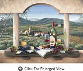 "McGowan Mfg TUFTOP Tempered Glass Cutting Board Wine Country Small 9"" X 12"""