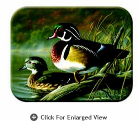 "McGowan Mfg TUFTOP Tempered Glass  Cutting Board Wood Ducks Small 9"" X 12"""