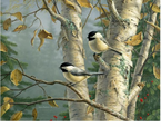 McGowan Mfg  TUFTOP Tempered Glass  Cutting Boards  Chickadees