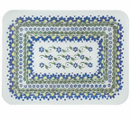 McGowan Mfg  TUFTOP Tempered Glass  Cutting Boards  Polish Blue Daisies