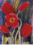 McGowan Mfg  TUFTOP Tempered Glass  Cutting Boards  Red Tulips