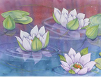 McGowan Mfg  TUFTOP Tempered Glass  Cutting Boards  Water Lilies