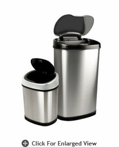 Nine Stars USA Touchless Infrared 13.2 Gal. and 3.2 Gal.Combo Trash Receptacle Model CB-DZT-50-13 & 12-9