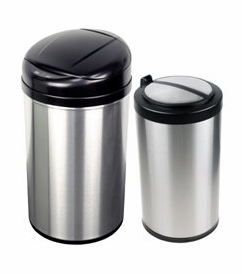 Nine Stars USA Touchless Infrared 13 Gal. and 3.2 Gal. Combo Trash Receptacle Model CB-DZT-49-8-12 & 18