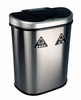 Nine Stars USA  Touchless Infrared Trash Receptacle  18.5 Gallon / 70 Liter