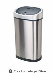Nine Stars USA Touchless Infrared Trash Receptacle Model DZT-50-9