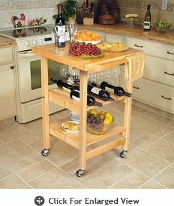 Oasis Concepts Folding Kitchen Island The Entertainer Natural