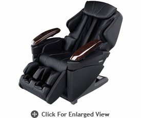 Panasonic Real Pro Ultra Full Body 3D Massage Chair w/ Heated Massage Rollers -  Black