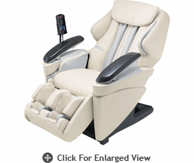 Panasonic Real Pro Ultra Full Body 3D Massage Chair w/ Heated Massage Rollers -  Ivory