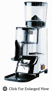 "Pasquini ""Moka"" Chrome Grinder with Doser"