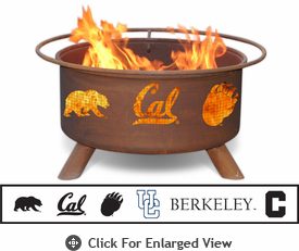 Patina Products Cal Berkeley Golden Bears Fire Pit