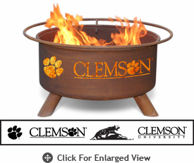 Patina Products Clemson University Tigers Fire Pit