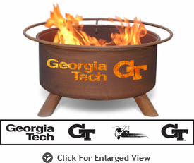Patina Products Georgia Tech Yellow Jackets Fire Pit