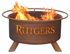 Patina Products Rutgers University  Scarlet Knights Fire Pit